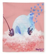 Floating Island Home Fleece Blanket