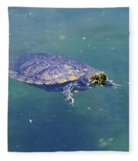 Floating Turtle Fleece Blanket