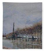 Flood At Port-marly, 1878 Fleece Blanket