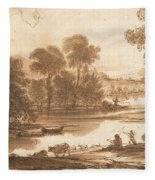 Floodplain With Watering Place  C  Fleece Blanket