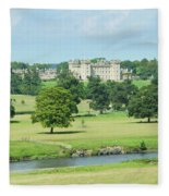 Floors Castle And River Tweed Fleece Blanket