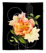 Floral Abstraction Fleece Blanket by Bee-Bee Deigner