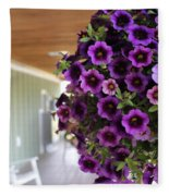 Floral Porch Sitting Fleece Blanket