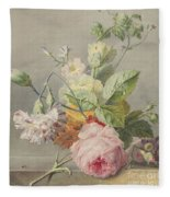 Floral Still Life Fleece Blanket