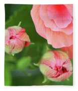 Flower Buds Rising Fleece Blanket