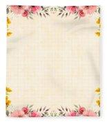 Flower Print Fleece Blanket