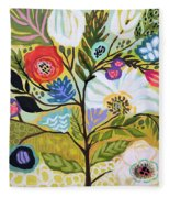 Flower Tree I    Fleece Blanket