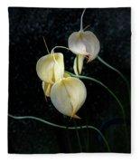 Flowerography Fleece Blanket