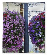 Flowers In Balance Fleece Blanket