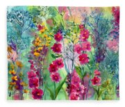 Flowery Fairy Tales Fleece Blanket