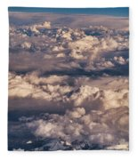 Flying Over The Rocky Mountains Fleece Blanket