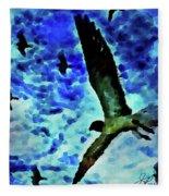 Flying Seagulls Fleece Blanket