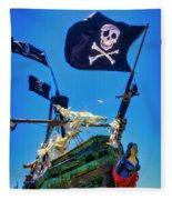 Flying The Pirates Colors Fleece Blanket