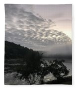 Fog Roll On Wataba Fleece Blanket
