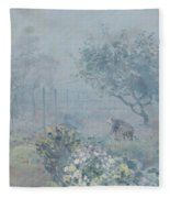 Foggy Morning, Voisins, 1874 Fleece Blanket