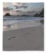 Follow Me Thoughtful Coastal Sunrise Fleece Blanket
