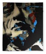 Folsom Blues _ Johnny Cash  Fleece Blanket