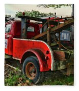 Ford F4 Tow The Truck Business End Fleece Blanket