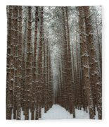 Forest In Sleeping Bear Dunes In January Fleece Blanket