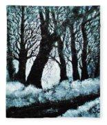 Forest Misty Dawn In Late Fall Fleece Blanket