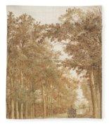 Forest Road Wi  Fleece Blanket