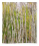 Forest Twist And Turns In Motion Fleece Blanket