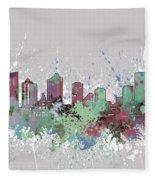 Fort Worth Skyline Artistic Pastel Fleece Blanket