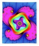 Fractal Art With Bold Colors Square Fleece Blanket