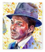 Frank Sinatra Singing Fleece Blanket