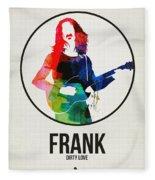 Frank Zappa Watercolor Fleece Blanket