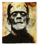 Frankenstein's Notebooks Fleece Blanket