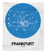 Frankfurt Blue Subway Map Fleece Blanket