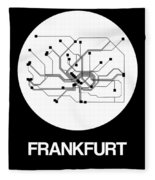 Frankfurt White Subway Map Fleece Blanket