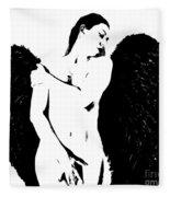 Frankie The Dark Angel Fleece Blanket
