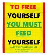 Free Yourself Fleece Blanket