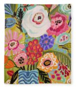 Fresh Flowers In Vase II    Fleece Blanket