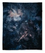 Frozen Leaves Fleece Blanket by Allin Sorenson