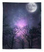 Full Moon Night Magic Fleece Blanket