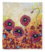 Funky Flowers Fleece Blanket