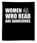 Funny Book Lover Design Who Likes Books Fleece Blanket