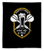 Funny Dart Player Darts And Beer Lovers Fleece Blanket