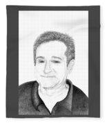 Funny Man Robin Williams Fleece Blanket
