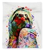 Funny Sloth Fleece Blanket