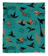 Funny Witch Hats Art Fleece Blanket