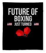 Future Of Boxing Just Turned 8 Fleece Blanket