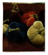 Fuzzy Pumpkins Fleece Blanket