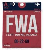 Fwa Fort Wayne Luggage Tag II Fleece Blanket