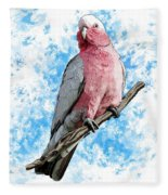 G Is For Galah Fleece Blanket