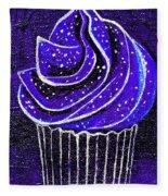 Galactic Universe Cupcake Fleece Blanket