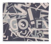 Game Of Golf Fleece Blanket